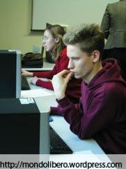 Studenti Studio su Computer