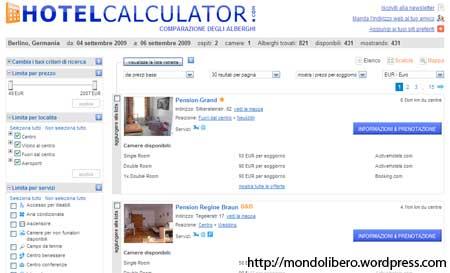 Motore di Ricerca Hotel Calculator.com